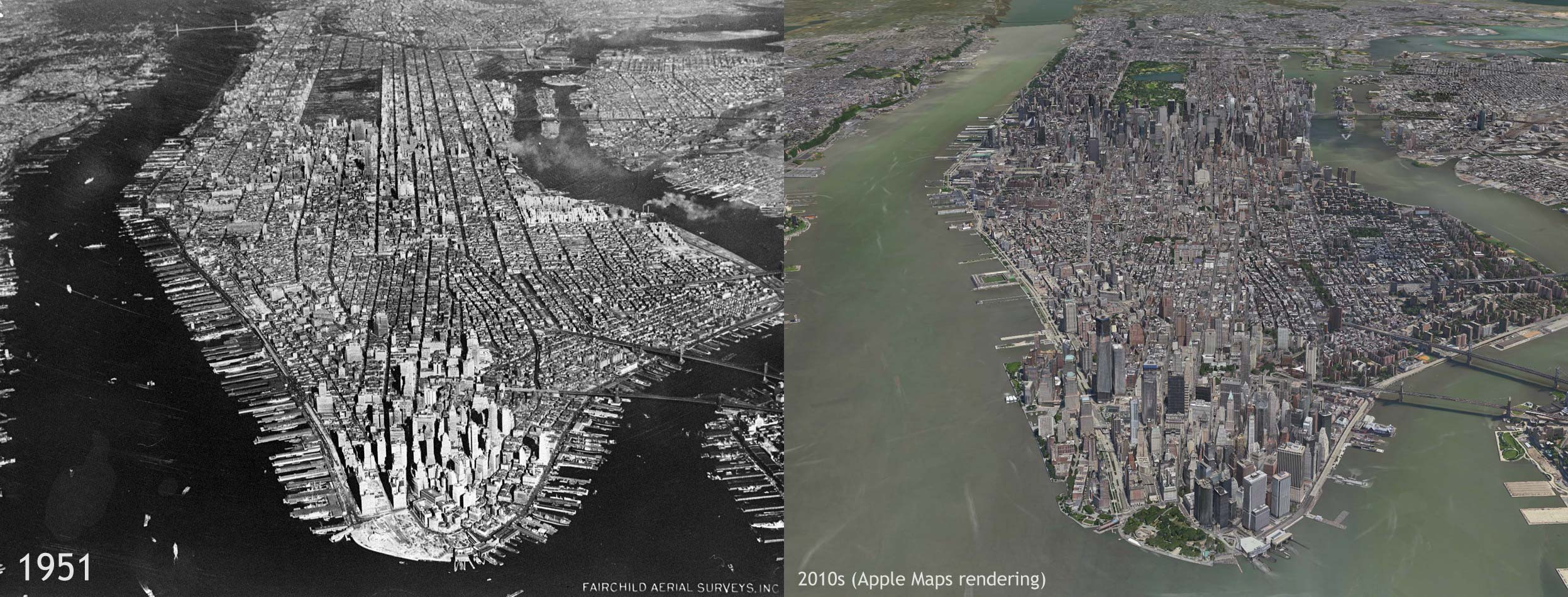 Manhattan - Then and Now