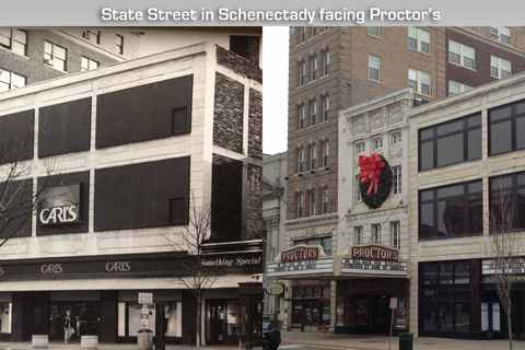 Downtown Schenectady- then & now