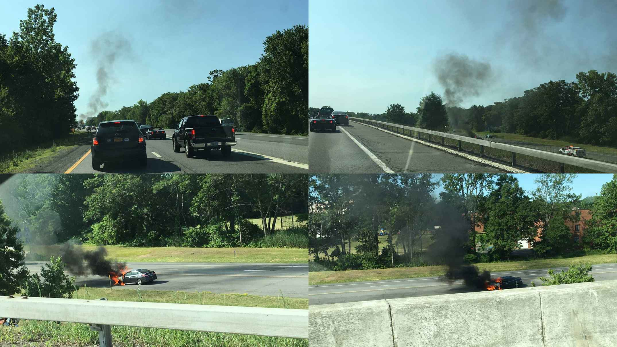 Car fire on I-90
