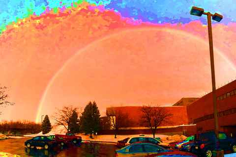 An oversaturated rainbow