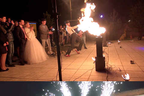 A fiery Russian wedding