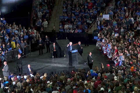 Bernie Sanders rally at UMass Amherst