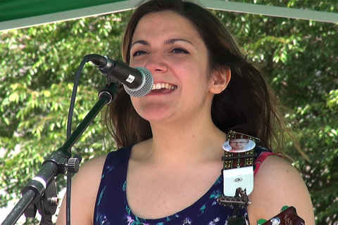 Angela Bove at Schenectady Green Market